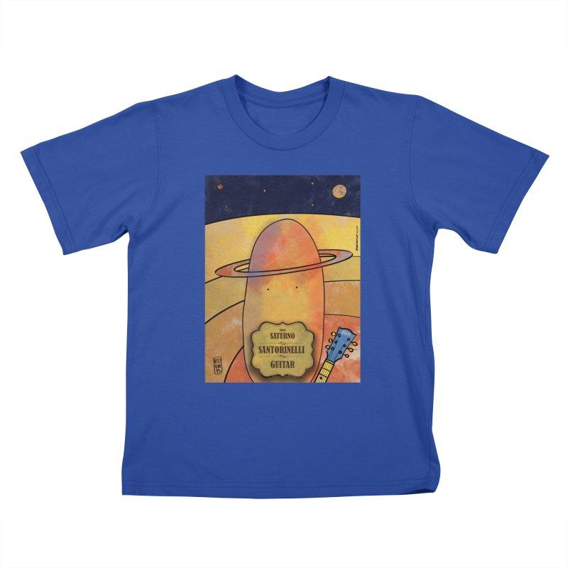 SANTORINELLI_Guitar Kids T-Shirt by ZEROSTILE'S ARTIST SHOP