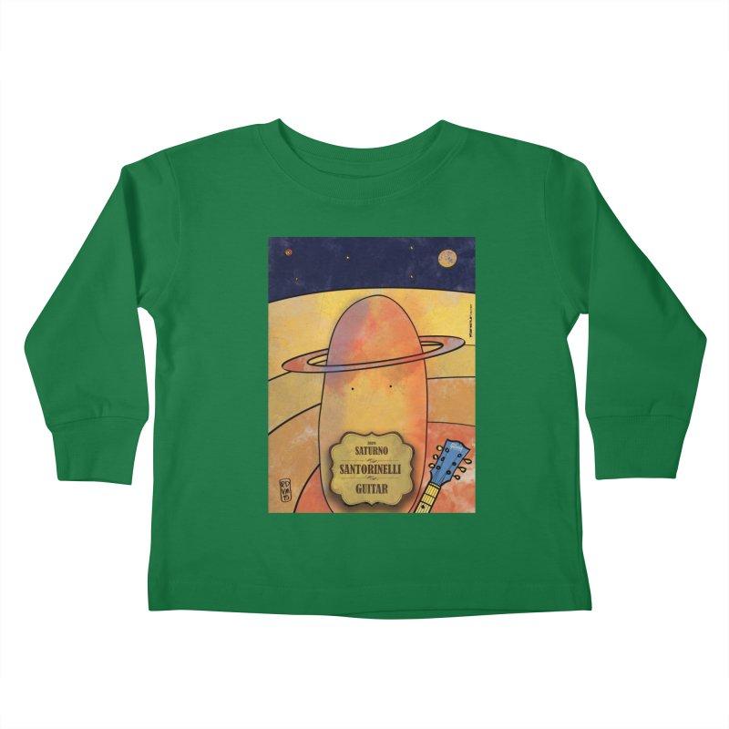 SANTORINELLI_Guitar Kids Toddler Longsleeve T-Shirt by ZEROSTILE'S ARTIST SHOP