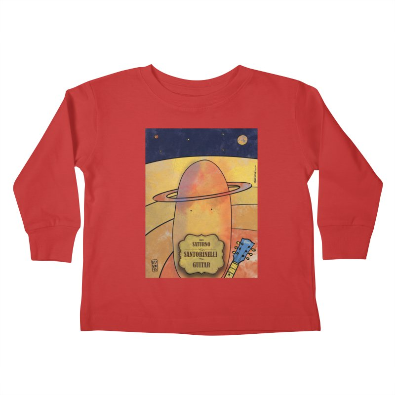 SANTORINELLI_Guitar Kids Toddler Longsleeve T-Shirt by ZEROSTILE'S ARTIST SHOP