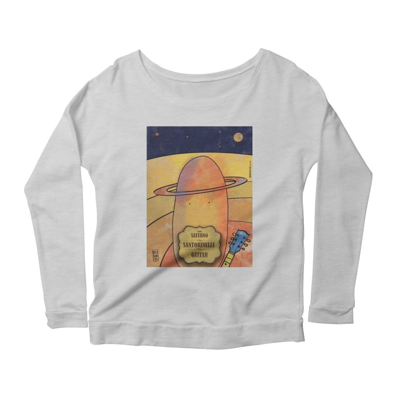 SANTORINELLI_Guitar Women's Scoop Neck Longsleeve T-Shirt by ZEROSTILE'S ARTIST SHOP
