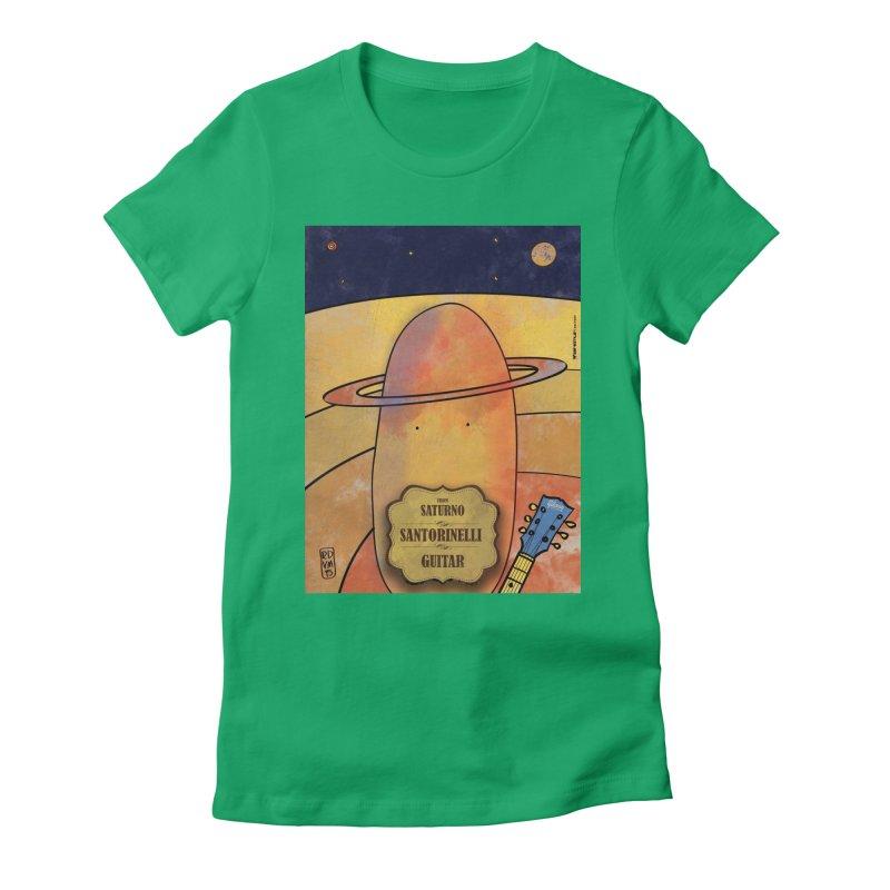 SANTORINELLI_Guitar Women's Fitted T-Shirt by ZEROSTILE'S ARTIST SHOP