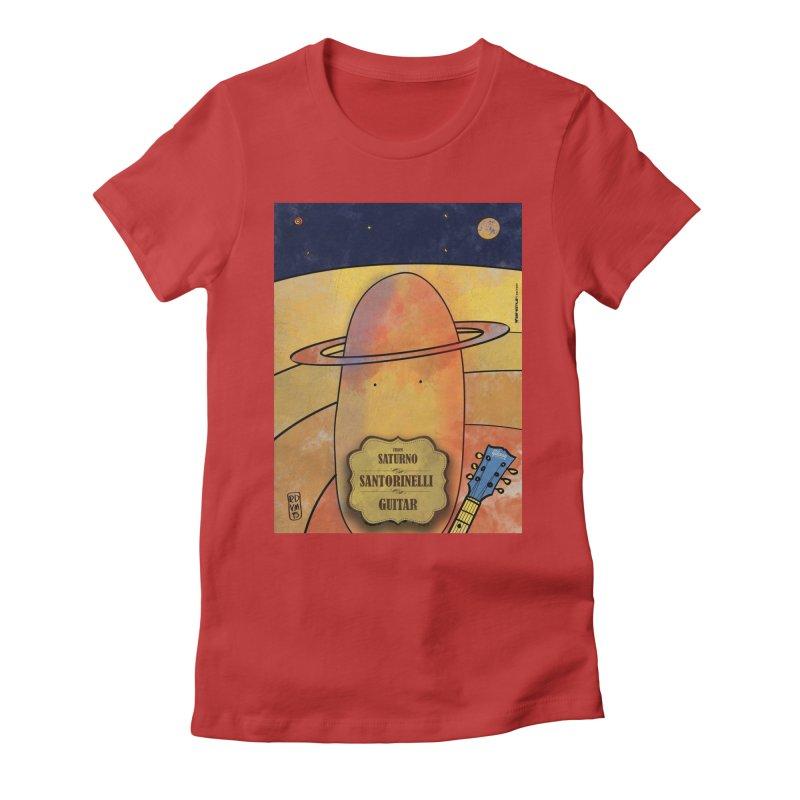SANTORINELLI_Guitar Women's T-Shirt by ZEROSTILE'S ARTIST SHOP