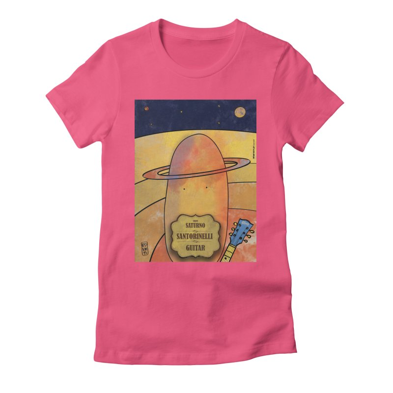 SANTORINELLI_Guitar Women's Fitted T-Shirt by ZEROSTILE'S ARTIST SHOP