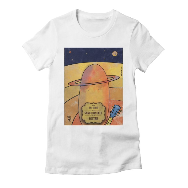 SANTORINELLI_Guitar Women's T-Shirt by ZEROSTILE'S ARTIST SHOP