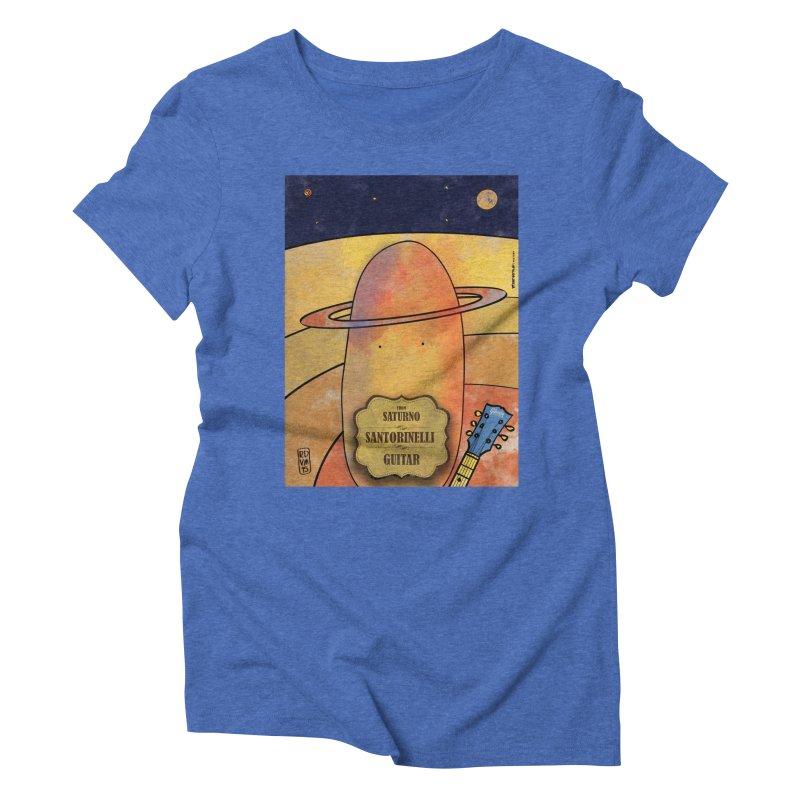 SANTORINELLI_Guitar Women's Triblend T-Shirt by ZEROSTILE'S ARTIST SHOP