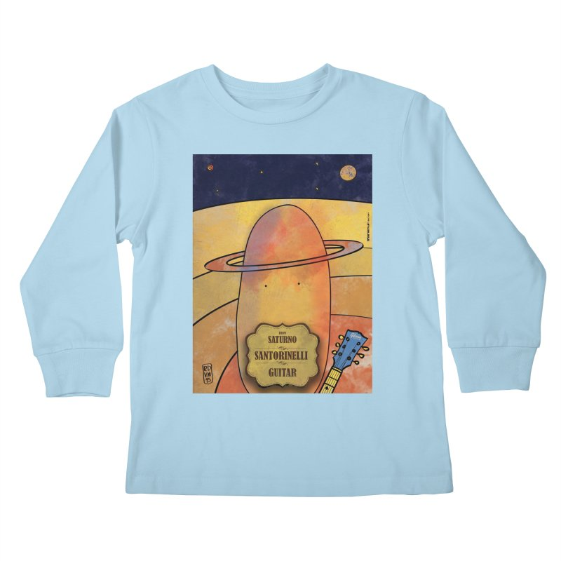 SANTORINELLI_Guitar Kids Longsleeve T-Shirt by ZEROSTILE'S ARTIST SHOP