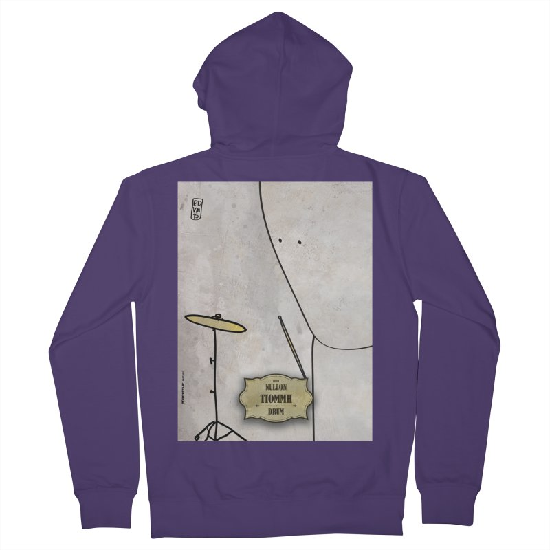 TIOMMH_Drum Women's French Terry Zip-Up Hoody by ZEROSTILE'S ARTIST SHOP