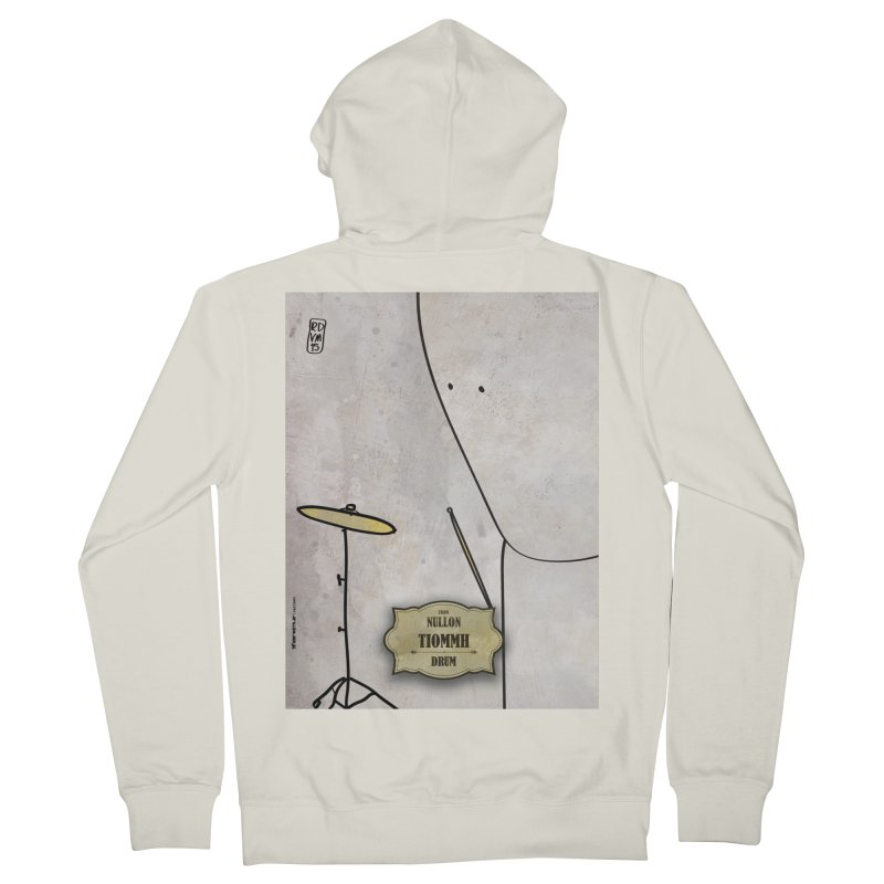 TIOMMH_Drum Men's French Terry Zip-Up Hoody by ZEROSTILE'S ARTIST SHOP