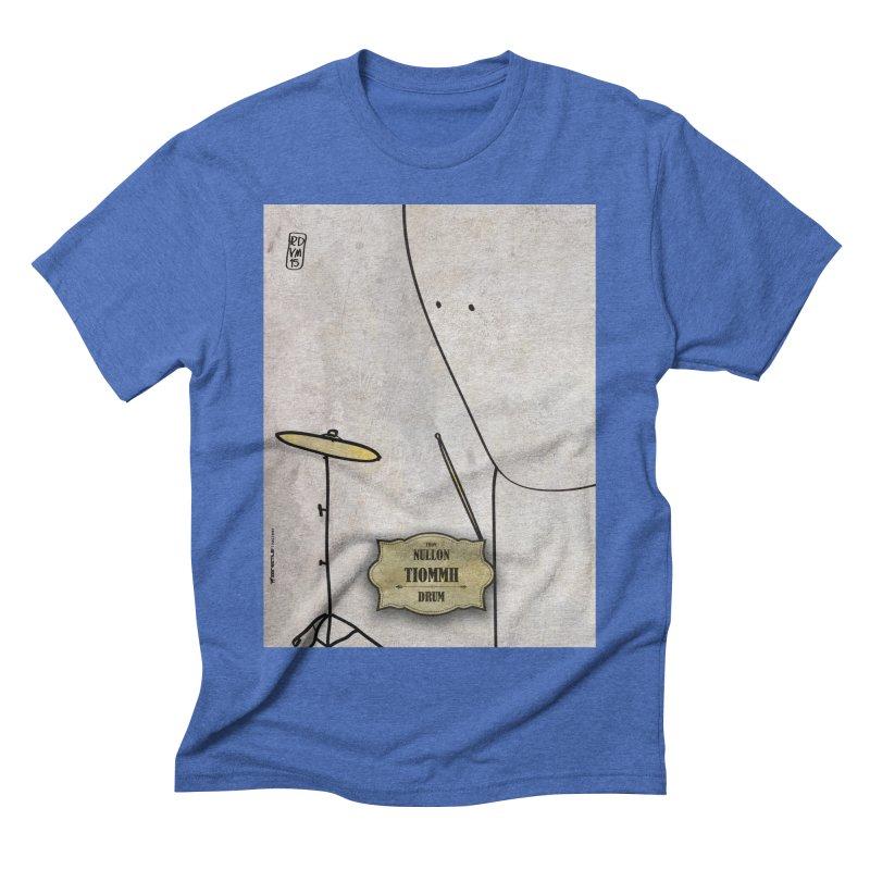 TIOMMH_Drum Men's Triblend T-Shirt by ZEROSTILE'S ARTIST SHOP