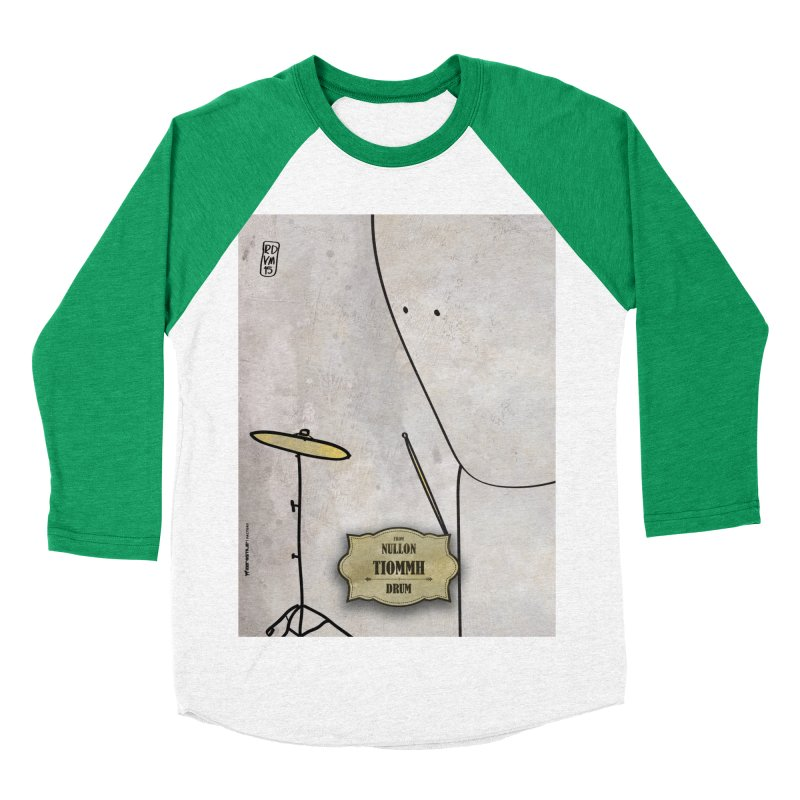 TIOMMH_Drum Women's Baseball Triblend Longsleeve T-Shirt by ZEROSTILE'S ARTIST SHOP