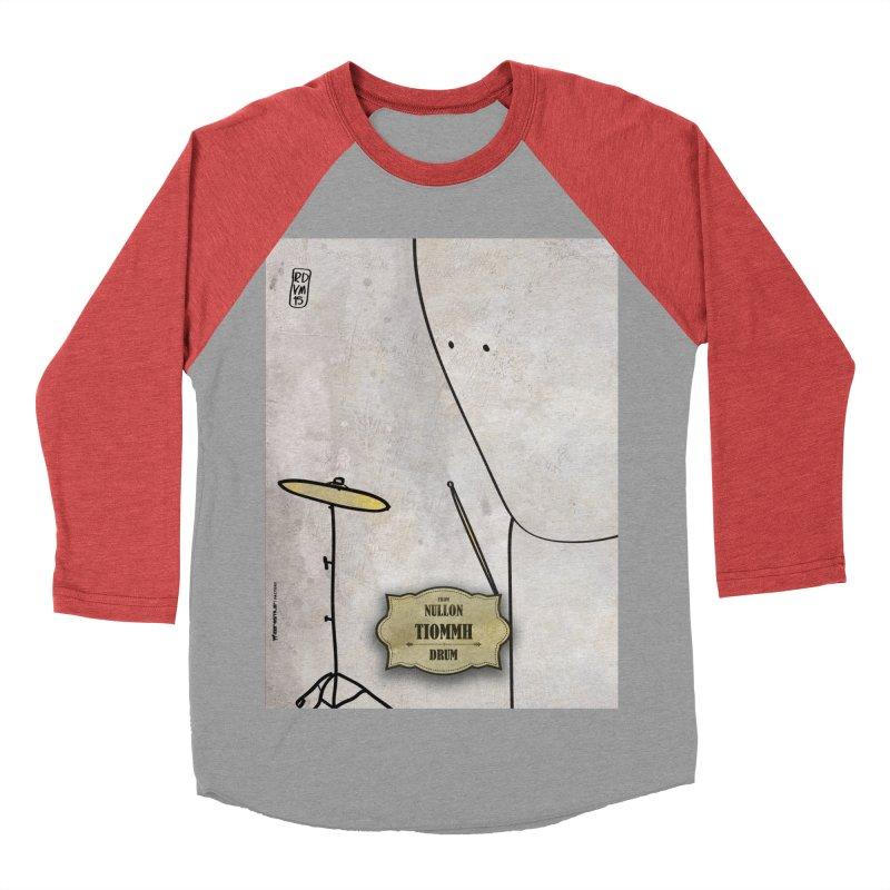 TIOMMH_Drum Women's Baseball Triblend Longsleeve T-Shirt by ZEROSTILE'S ARTIST SHOP
