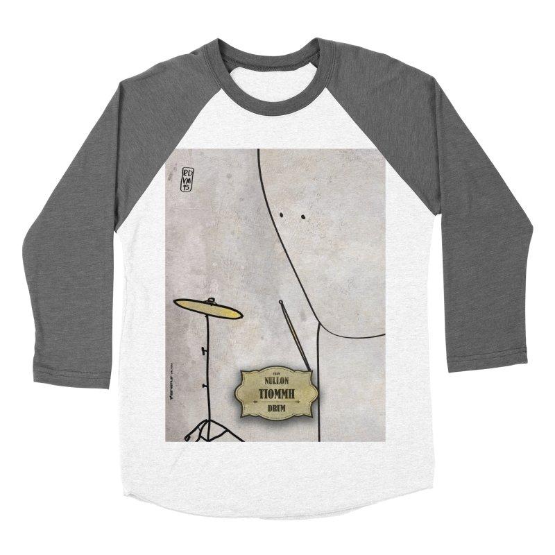 TIOMMH_Drum Men's Baseball Triblend Longsleeve T-Shirt by ZEROSTILE'S ARTIST SHOP