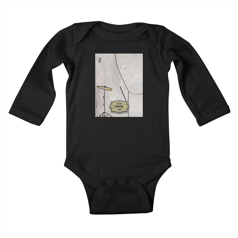 TIOMMH_Drum Kids Baby Longsleeve Bodysuit by ZEROSTILE'S ARTIST SHOP