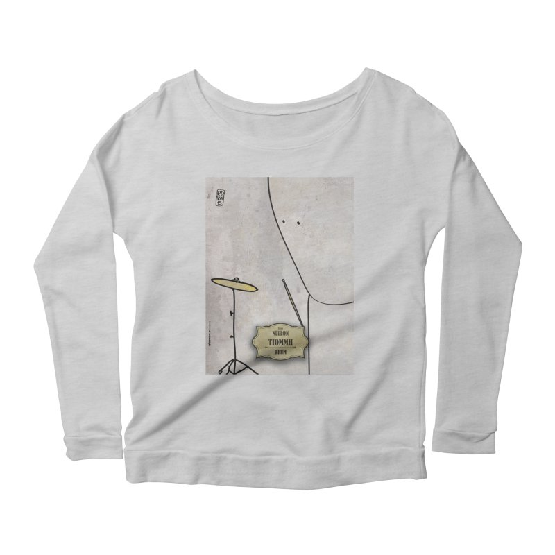 TIOMMH_Drum Women's Scoop Neck Longsleeve T-Shirt by ZEROSTILE'S ARTIST SHOP