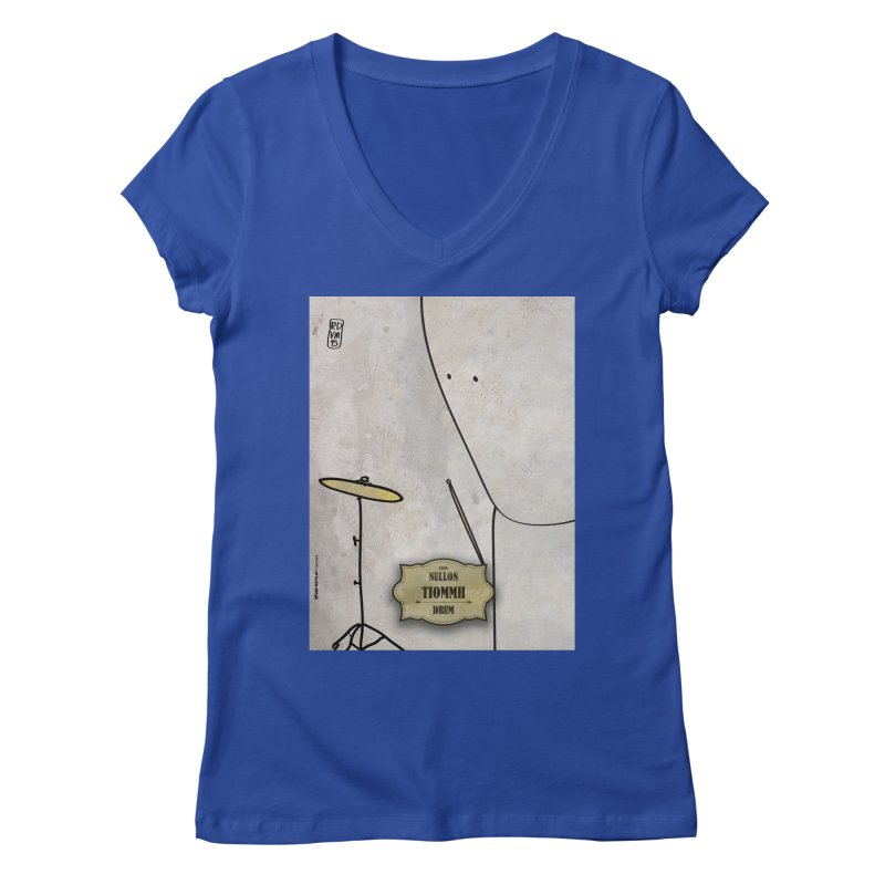 TIOMMH_Drum Women's Regular V-Neck by ZEROSTILE'S ARTIST SHOP