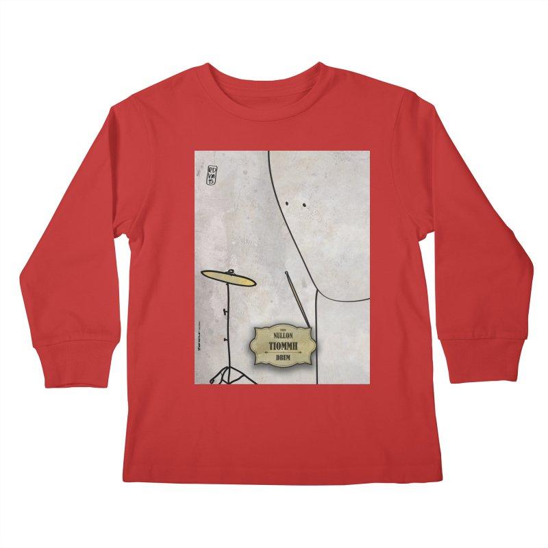 TIOMMH_Drum Kids Longsleeve T-Shirt by ZEROSTILE'S ARTIST SHOP