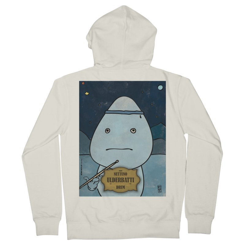 ULDERBATTI_Drum Men's French Terry Zip-Up Hoody by ZEROSTILE'S ARTIST SHOP