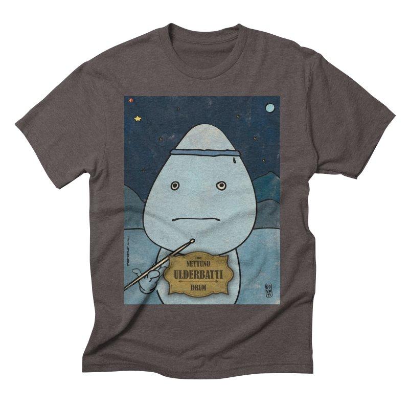 ULDERBATTI_Drum Men's Triblend T-Shirt by ZEROSTILE'S ARTIST SHOP