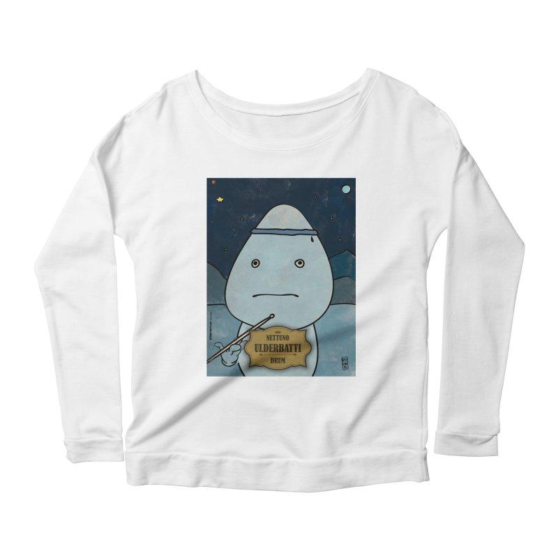 ULDERBATTI_Drum Women's Scoop Neck Longsleeve T-Shirt by ZEROSTILE'S ARTIST SHOP