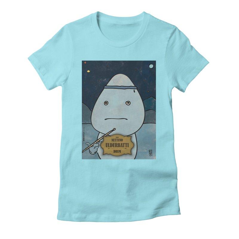 ULDERBATTI_Drum Women's Fitted T-Shirt by ZEROSTILE'S ARTIST SHOP