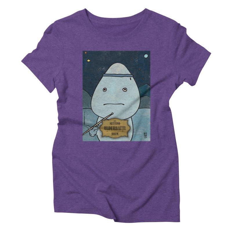 ULDERBATTI_Drum Women's Triblend T-Shirt by ZEROSTILE'S ARTIST SHOP