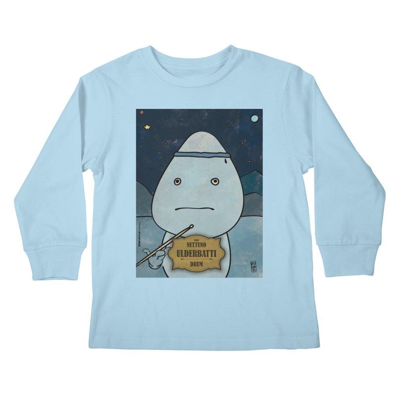 ULDERBATTI_Drum Kids Longsleeve T-Shirt by ZEROSTILE'S ARTIST SHOP