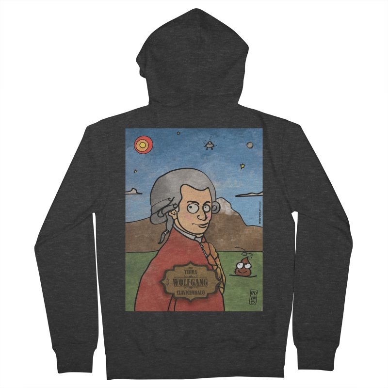 WOLFGANG_Clavincembalo Women's Zip-Up Hoody by ZEROSTILE'S ARTIST SHOP