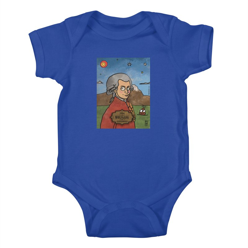 WOLFGANG_Clavincembalo Kids Baby Bodysuit by ZEROSTILE'S ARTIST SHOP