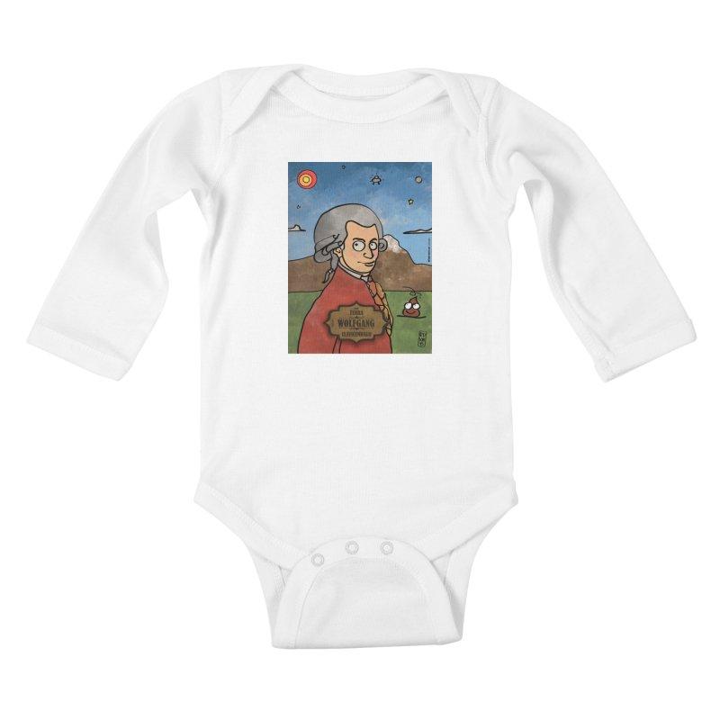 WOLFGANG_Clavincembalo Kids Baby Longsleeve Bodysuit by ZEROSTILE'S ARTIST SHOP
