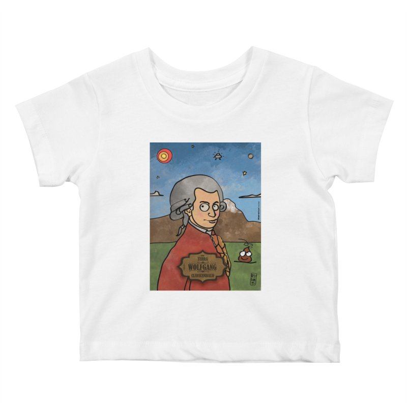 WOLFGANG_Clavincembalo Kids Baby T-Shirt by ZEROSTILE'S ARTIST SHOP