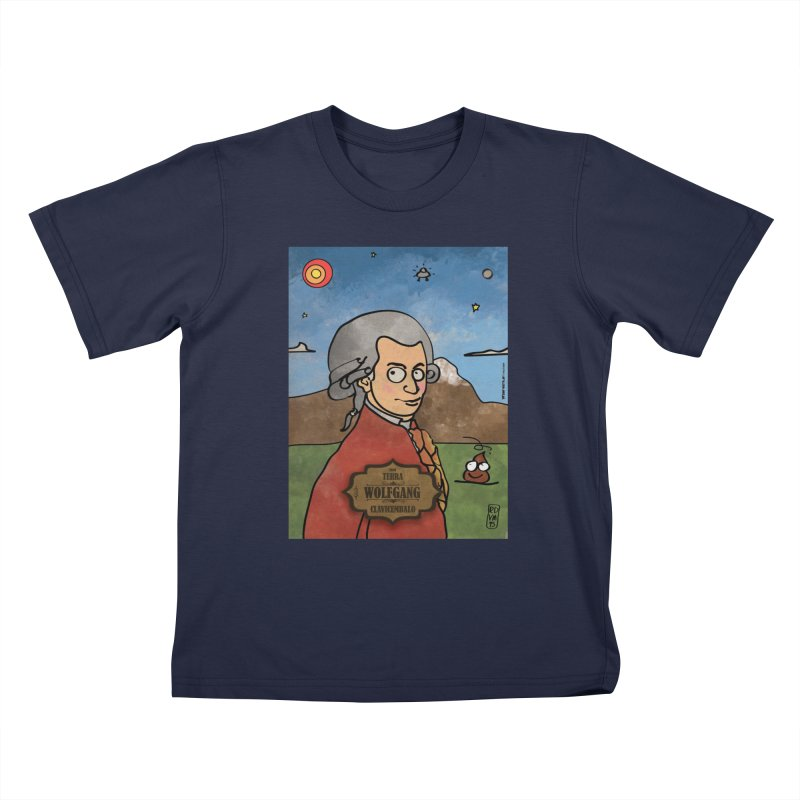 WOLFGANG_Clavincembalo Kids T-Shirt by ZEROSTILE'S ARTIST SHOP