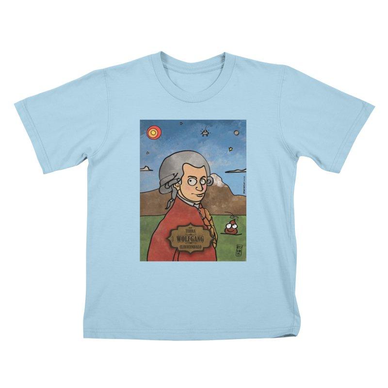 WOLFGANG_Clavincembalo Kids T-Shirt by ZEROSTILE'S ARTIST SHOP