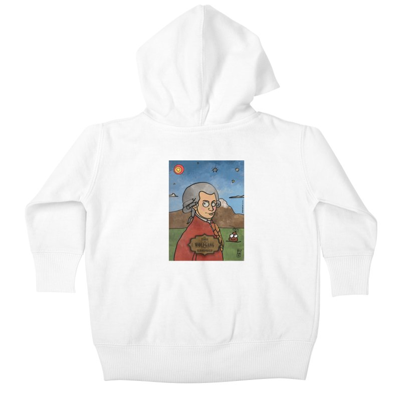 WOLFGANG_Clavincembalo Kids Baby Zip-Up Hoody by ZEROSTILE'S ARTIST SHOP