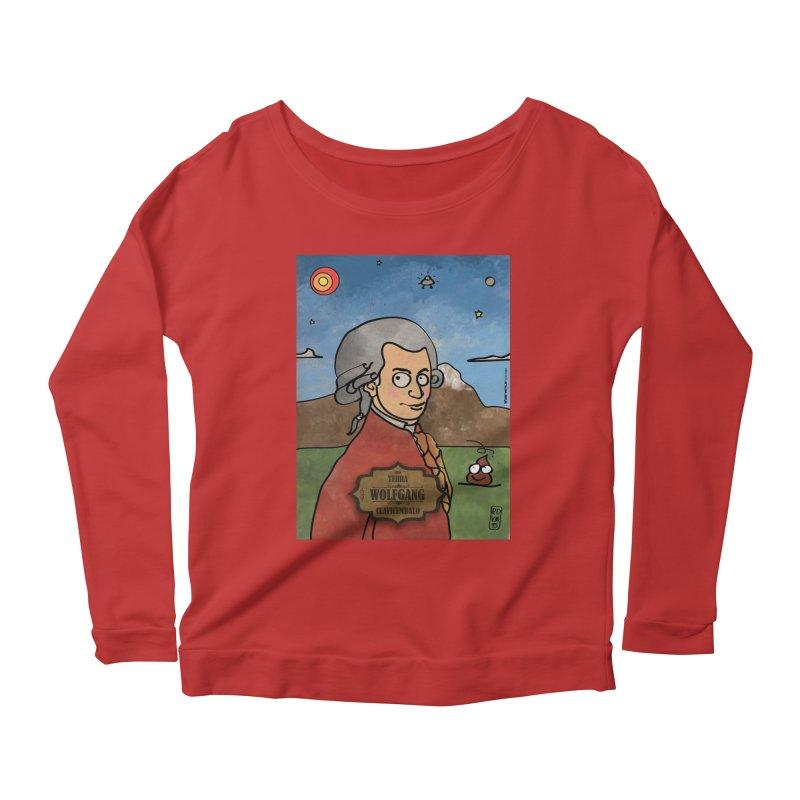 WOLFGANG_Clavincembalo Women's Scoop Neck Longsleeve T-Shirt by ZEROSTILE'S ARTIST SHOP