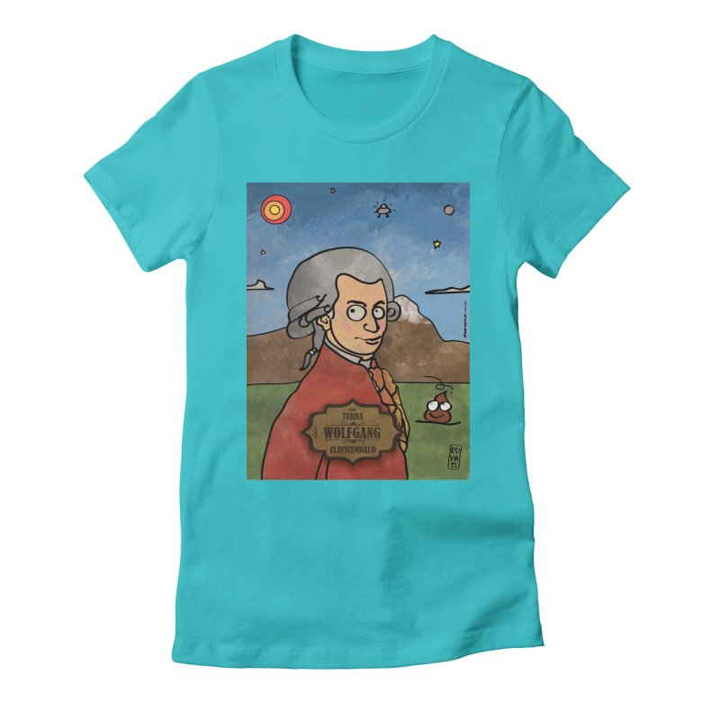 WOLFGANG_Clavincembalo Women's Fitted T-Shirt by ZEROSTILE'S ARTIST SHOP