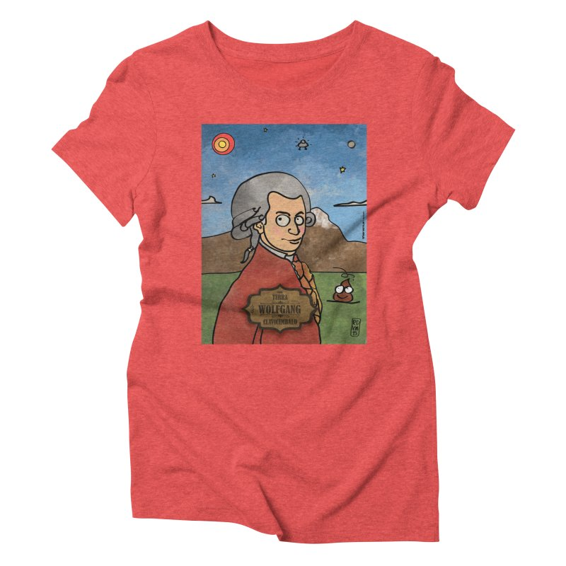 WOLFGANG_Clavincembalo Women's Triblend T-Shirt by ZEROSTILE'S ARTIST SHOP
