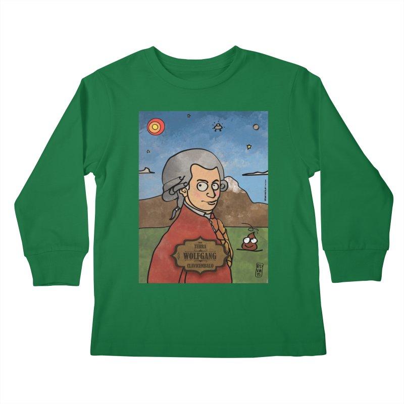 WOLFGANG_Clavincembalo Kids Longsleeve T-Shirt by ZEROSTILE'S ARTIST SHOP