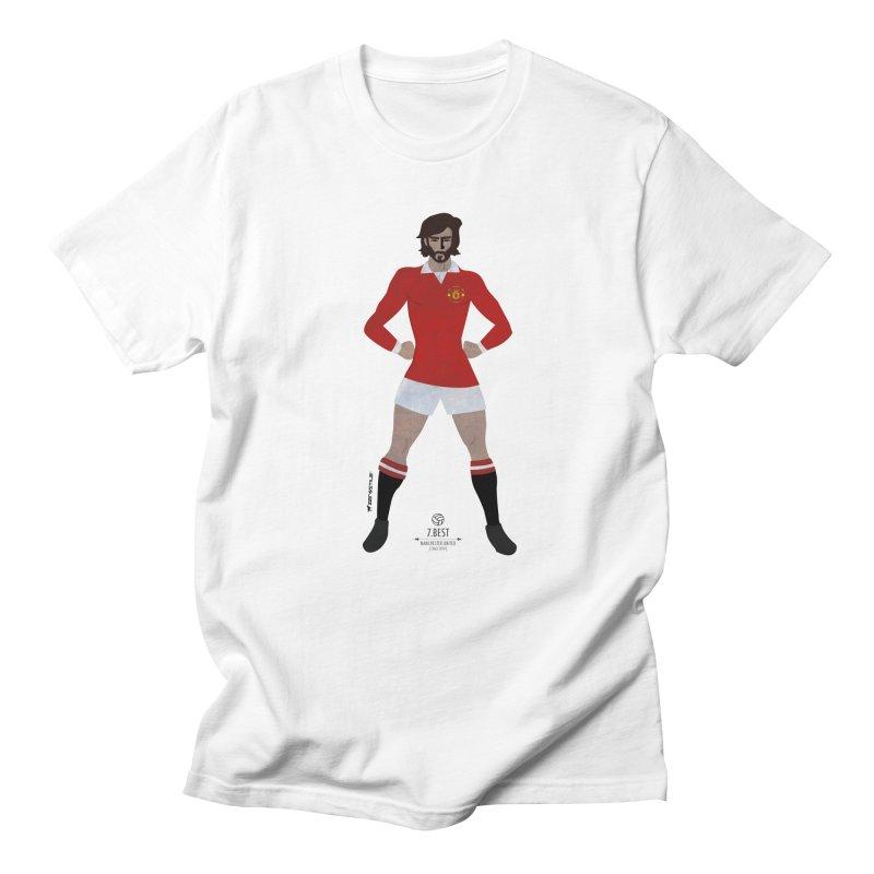 George BEST My Hero in Men's T-Shirt White by ZEROSTILE'S ARTIST SHOP