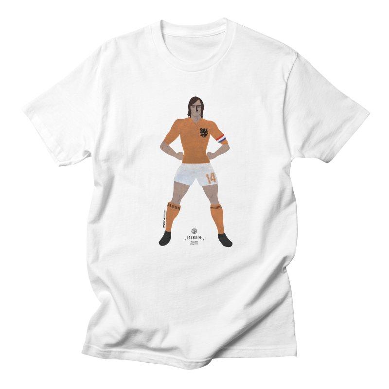 Cruijff My Hero in Men's T-Shirt White by ZEROSTILE'S ARTIST SHOP