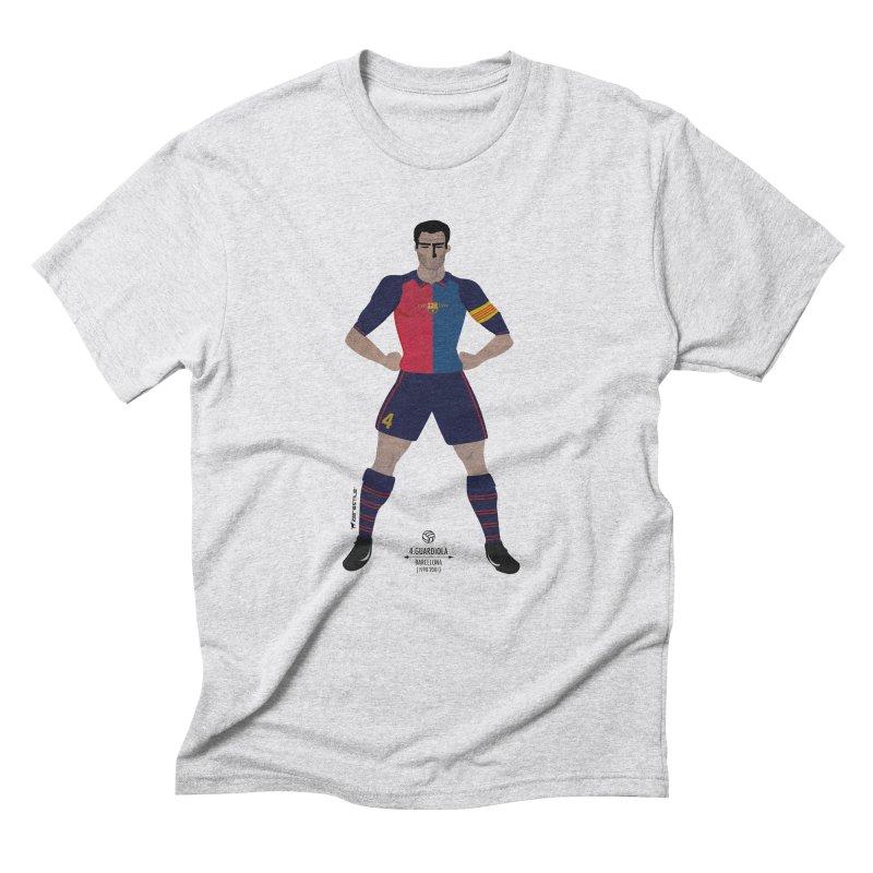 Pep Guardiola My Hero in Men's Triblend T-Shirt Heather White by ZEROSTILE'S ARTIST SHOP