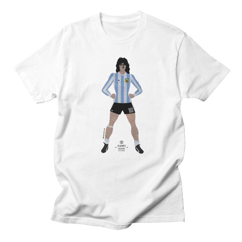 Kempes My Hero in Men's T-Shirt White by ZEROSTILE'S ARTIST SHOP