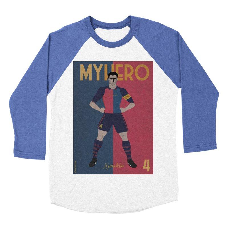 Pep Guardiola My Hero Vintage Edition Men's Baseball Triblend T-Shirt by ZEROSTILE'S ARTIST SHOP