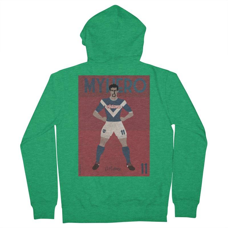 Hubner My Hero Vintage Edition Men's Zip-Up Hoody by ZEROSTILE'S ARTIST SHOP