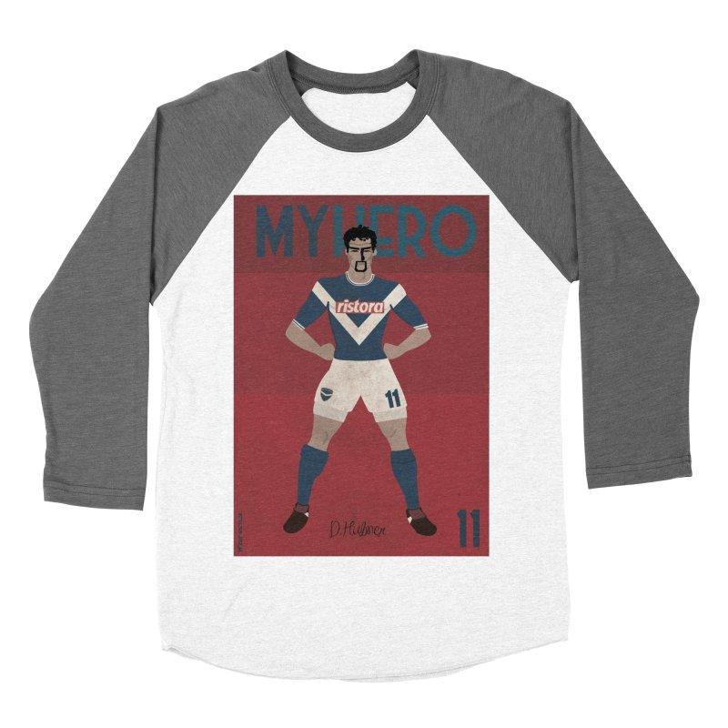 Hubner My Hero Vintage Edition Men's Baseball Triblend T-Shirt by ZEROSTILE'S ARTIST SHOP