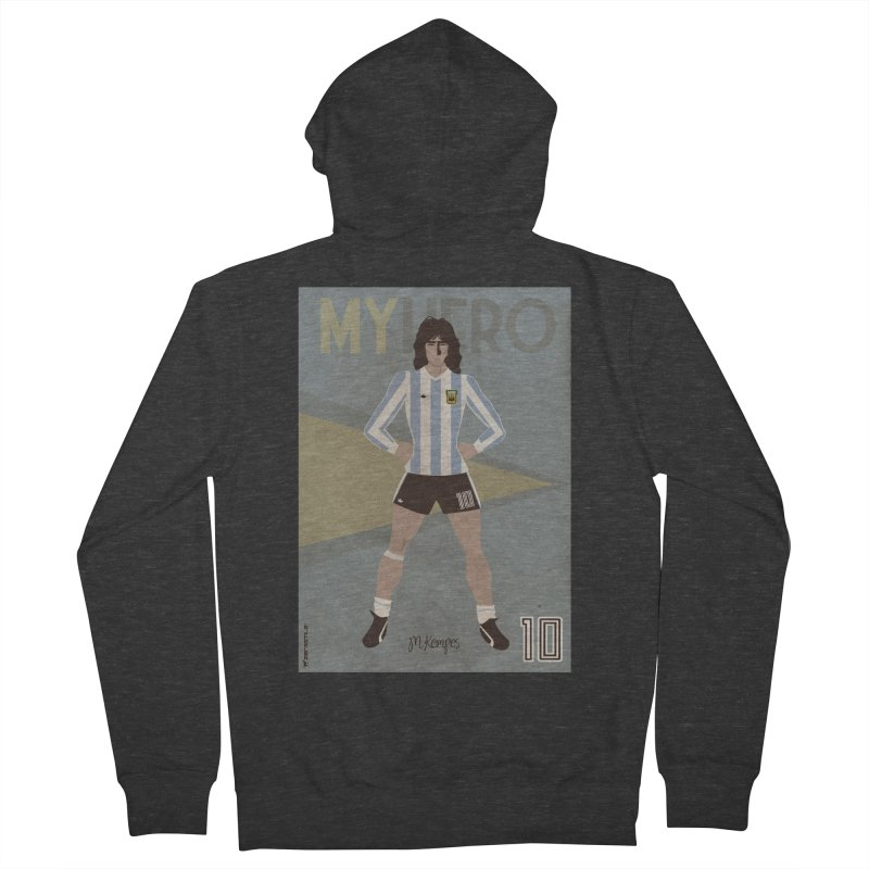 Kempes My Hero Vintage Edition Women's Zip-Up Hoody by ZEROSTILE'S ARTIST SHOP