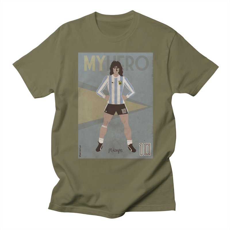 Kempes My Hero Vintage Edition in Men's T-shirt Olive by ZEROSTILE'S ARTIST SHOP