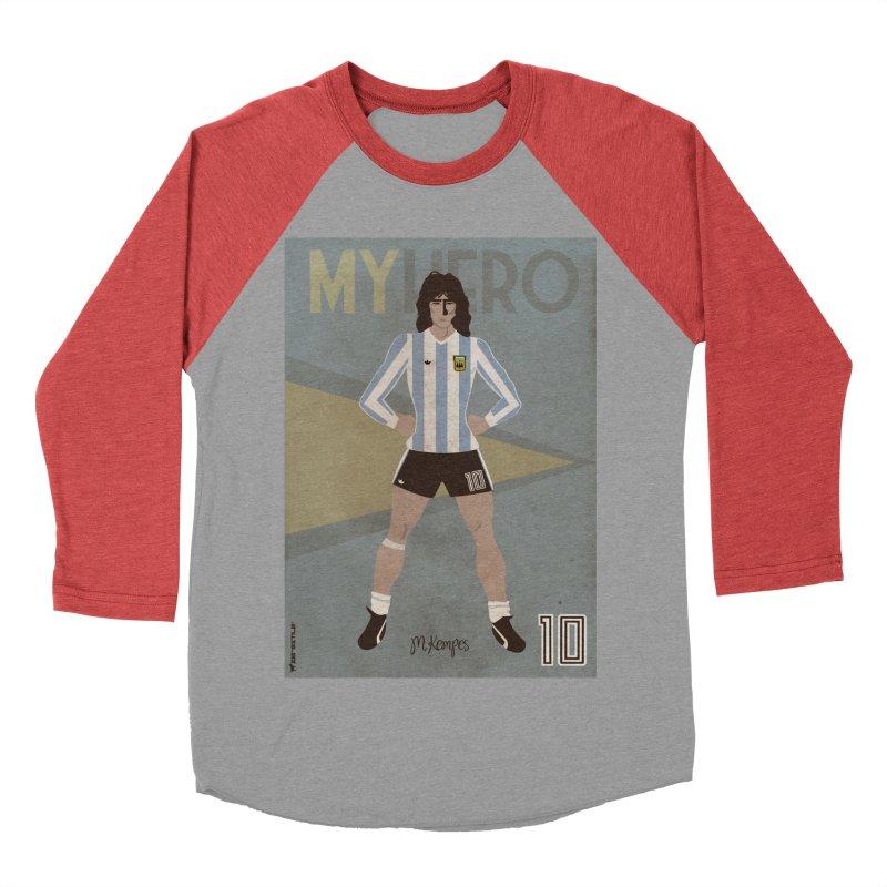 Kempes My Hero Vintage Edition Women's Baseball Triblend T-Shirt by ZEROSTILE'S ARTIST SHOP