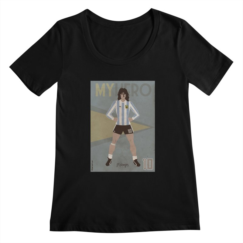 Kempes My Hero Vintage Edition Women's Scoopneck by ZEROSTILE'S ARTIST SHOP
