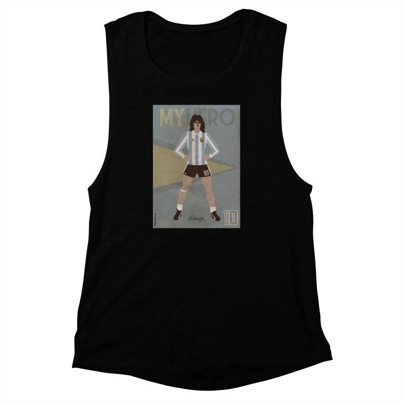 Kempes My Hero Vintage Edition Women's Muscle Tank by ZEROSTILE'S ARTIST SHOP
