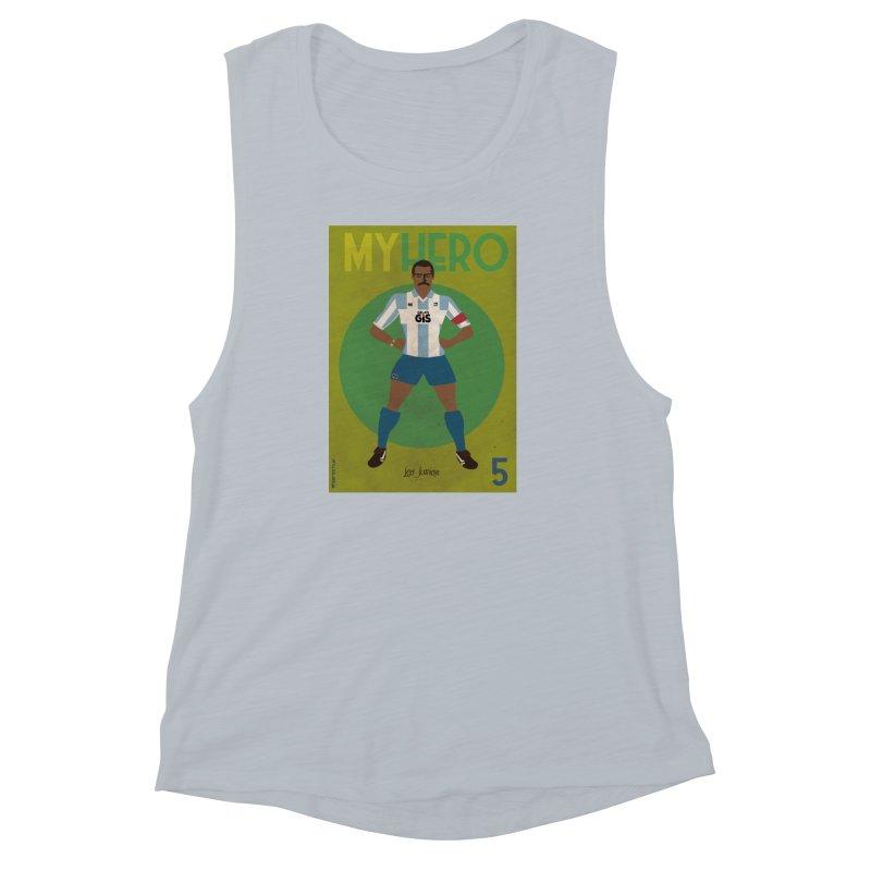 Leo Junior My Hero Vintage Edition Women's Muscle Tank by ZEROSTILE'S ARTIST SHOP